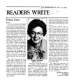 Testing Tenure letter to the Editor in The Messenger July 13, 1983 by Rhoda Dorsey, President, Goucher College
