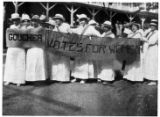 Goucher Votes for Women - possibly at march on Washington in February 1917